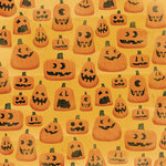 Karen Foster Design - Halloween Collection - 12 x 12 Paper - Creepy Carvings