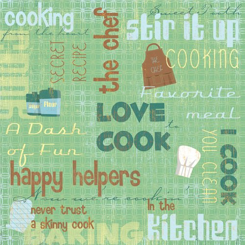 Karen Foster Design - In the Kitchen Collection - 12 x 12 Paper - Stir It Up Collage