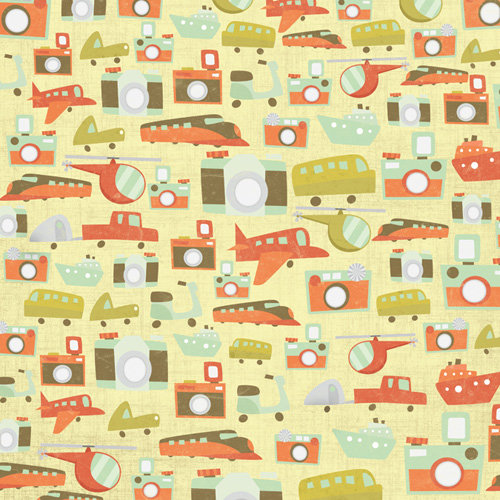 Karen Foster Design - Travel Collection - 12 x 12 Paper - Traffic Jam