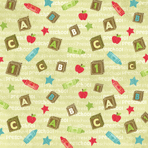 Karen Foster Design - Grade School Collection - 12 x 12 Paper - Preschool