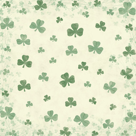 Karen Foster Design - St. Patrick's Day Collection - 12 x 12 Paper - Shamrock Field