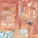 Karen Foster Design - Winter Sports Collection - 12 x 12 Paper - Winter Sports Collage