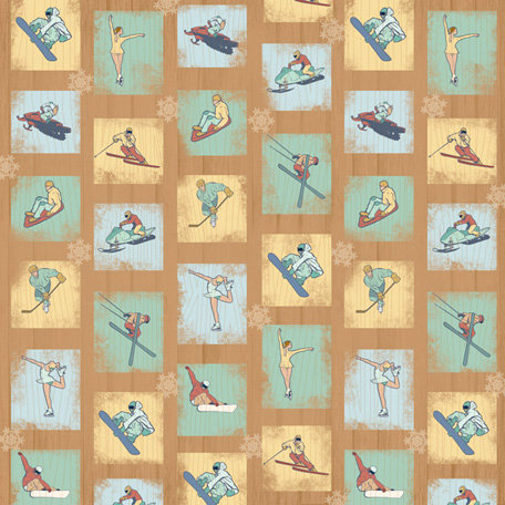 Karen Foster Design - Winter Sports Collection - 12 x 12 Paper - Winter Sports