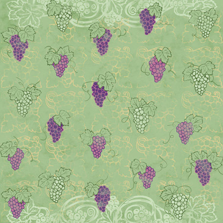 Karen Foster Design - Winery Collection - 12 x 12 Paper - Vineyard