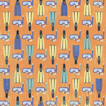 Karen Foster Design - Snorkeling Collection - 12 x 12 Paper - Snorkeling Gear