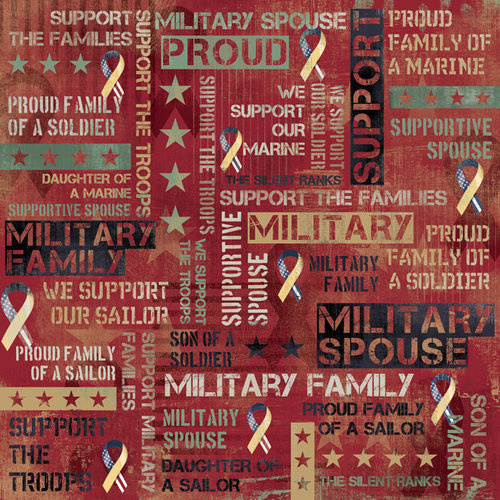 Karen Foster Design - Military Collection - 12 x 12 Paper - Military Family Collage