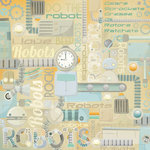 Karen Foster Design - Robots Collection - 12 x 12 Paper - Robot Collage