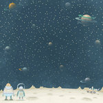 Karen Foster Design - Robots Collection - 12 x 12 Paper - Space Exploration