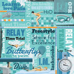 Karen Foster Design - Swimming Collection - 12 x 12 Paper - Swimming Collage