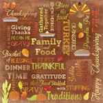 Karen Foster Design - Autumn and Thanksgiving Collection - 12 x 12 Paper - Happy Thanksgiving Collage