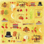 Karen Foster Design - Autumn and Thanksgiving Collection - 12 x 12 Paper - Thanksgiving Bounty