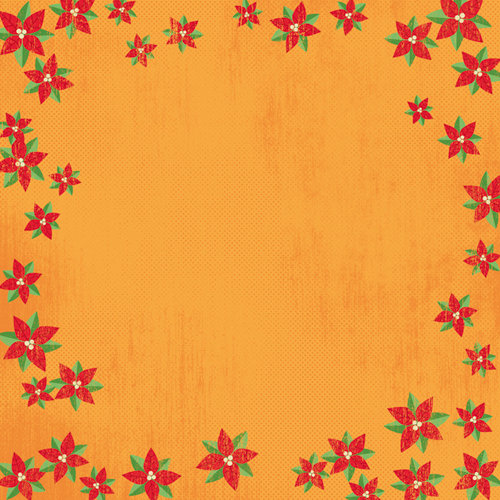 Karen Foster Design - Christmas Collection - 12 x 12 Paper - Poinsettias
