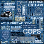 Karen Foster Design - Police Collection - 12 x 12 Paper - Law Enforcement Collage