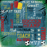 Karen Foster Design - Soccer Collection - 12 x 12 Paper - Soccer Champ Collage