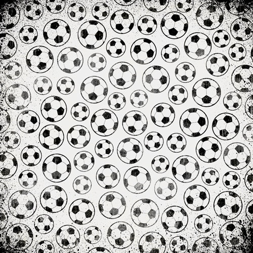 Karen Foster Design - Soccer Collection - 12 x 12 Paper - Official Soccer Balls
