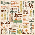 Karen Foster Design - Orchestra and Band Collection - 12 x 12 Paper - Band Collage