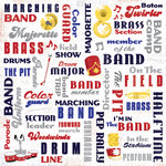 Karen Foster Design - Marching Band Collection - 12 x 12 Paper - Marching Band Collage