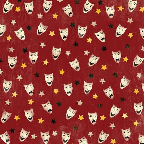 Karen Foster Design - Drama Collection - 12 x 12 Paper - Drama Masks
