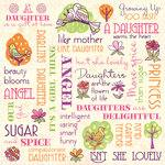 Karen Foster Design - Daughter and Son Collection - 12 x 12 Paper - Darling Daughter Collage