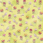 Karen Foster Design - Daughter and Son Collection - 12 x 12 Paper - Birds and Flowers
