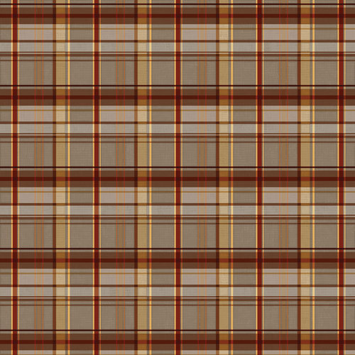 Karen Foster Design - Grandpa Collection - 12 x 12 Paper - Classic Grandpa Plaid
