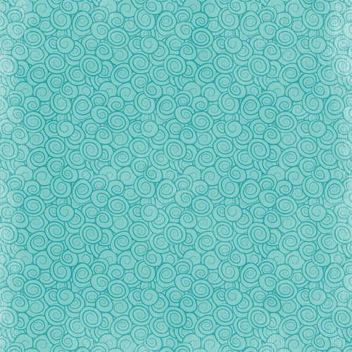 Karen Foster Design - Mermaids Collection - 12 x 12 Paper - Water Wave