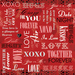 Karen Foster Design - Valentine's Day Collection - 12 x 12 Paper - Crazy For You Collage