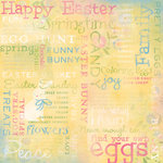 Karen Foster Design - Easter Collection - 12 x 12 Paper - Easter Joy Collage