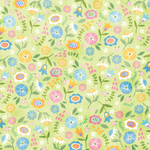 Karen Foster Design - Easter Collection - 12 x 12 Paper - Easter Blooms
