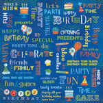 Karen Foster Design - Birthday Collection - 12 x 12 Paper - Party Time Collage
