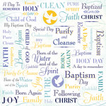Karen Foster Design - Baptism Collection -12 x 12 Paper - My Baptism Collage