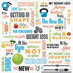 Karen Foster Design - Weight Loss Collection - 12 x 12 Paper - Weight Loss Collage