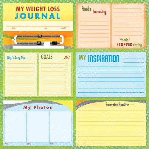 Karen Foster Design - Weight Loss Collection - 12 x 12 Paper - Weight Loss Journal