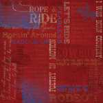 Karen Foster Design - Cowboy Horse Collection - 12 x 12 Paper - Let's Ride Collage