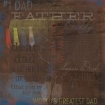Karen Foster Design - Dad Collection - 12 x 12 Paper - Number 1 Dad Collage