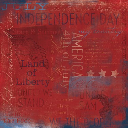 Karen Foster Design - Patriotic Collection - 12 x 12 Paper - America Collage