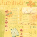 Karen Foster Design - Sunny Days Collection - 12 x 12 Paper - Summer Fun Collage