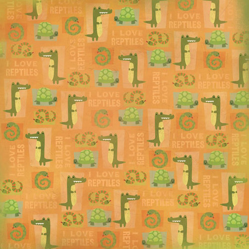 Karen Foster Design - Zoo Collection - 12 x 12 Paper - I Love Reptiles
