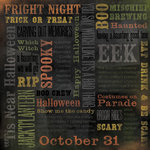 Karen Foster Design - Halloween Collection - 12 x 12 Paper - Trick Or Treat Collage