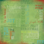 Karen Foster Design - Christmas Collection - 12 x 12 Paper - Tis the Season Collage