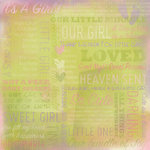 Karen Foster Design - 12 x 12 Paper - It's A Girl Collage