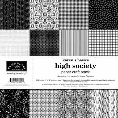 Karen Foster Design - High Society Collection - 12 x 12 Paper Craft Stack
