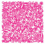 KI Memories - Lace Cardstock - Hula - Hot Pink