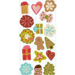 KI Memories - Love Elsie - Noel Christmas Collection - Chipboard Accents - Chip Buttons - Noel Shapes