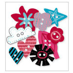 KI Memories - Love Elsie - Roxie Collection - Chipboard Buttons - Roxie Shapes, BRAND NEW