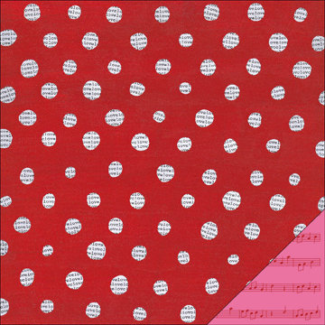 KI Memories - Love Elsie - Betty Collection - Double Sided Paper - Betty Love Dot, BRAND NEW