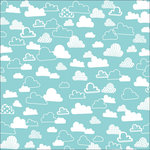 KI Memories - Love Elsie - Toby Collection - Fabric Paper - Toby Cloudy Day, BRAND NEW