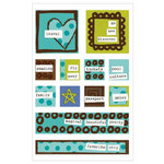 KI Memories - Love Elsie - Toby Collection - Gel Stickers - Toby Square Gels, CLEARANCE