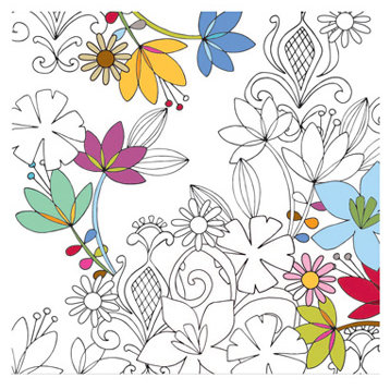 KI Memories - Pop Culture Collection - Frosty Patterns - 12x12 Iridescent Paper - Coloring Book