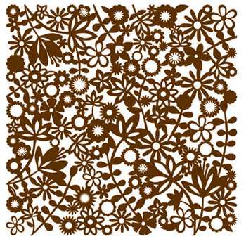 KI Memories - Pop Culture Collection - Lace Cardstock - Flower Child - Socialite - Brown